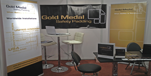 Gold Medal Seclusion Room Padding Stand in DIMH